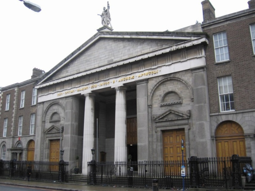 The facade of All Hallows Church (now St. Andrew's).