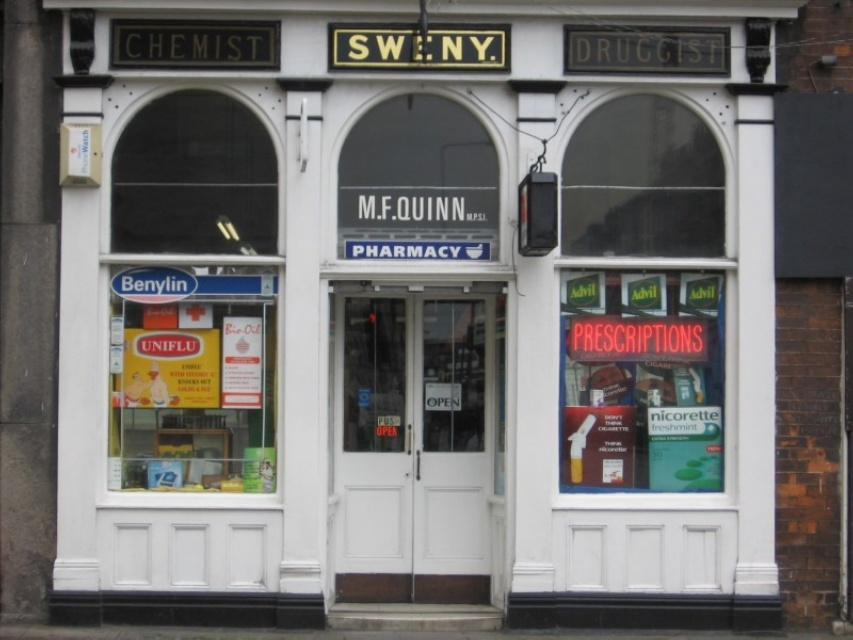 Sweny's Chemist, where you can still buy a bar of lemon soap.