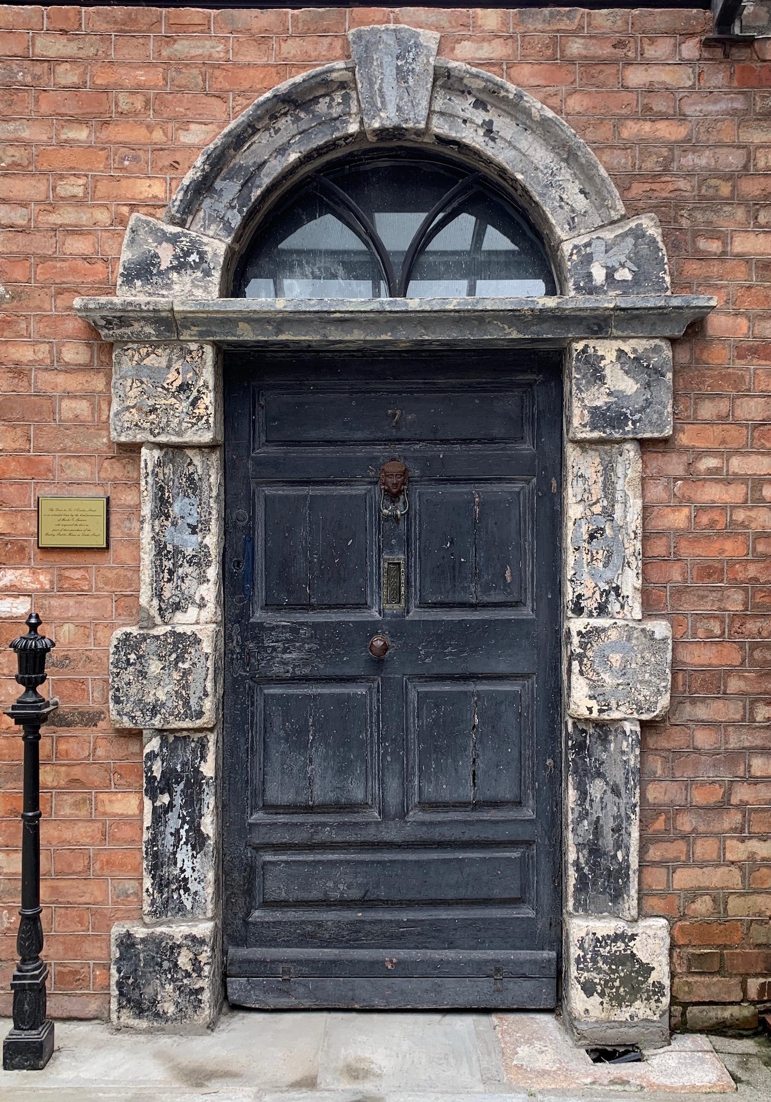 7 Eccles Street (original door now on display at the James Joyce Centre in Dublin)