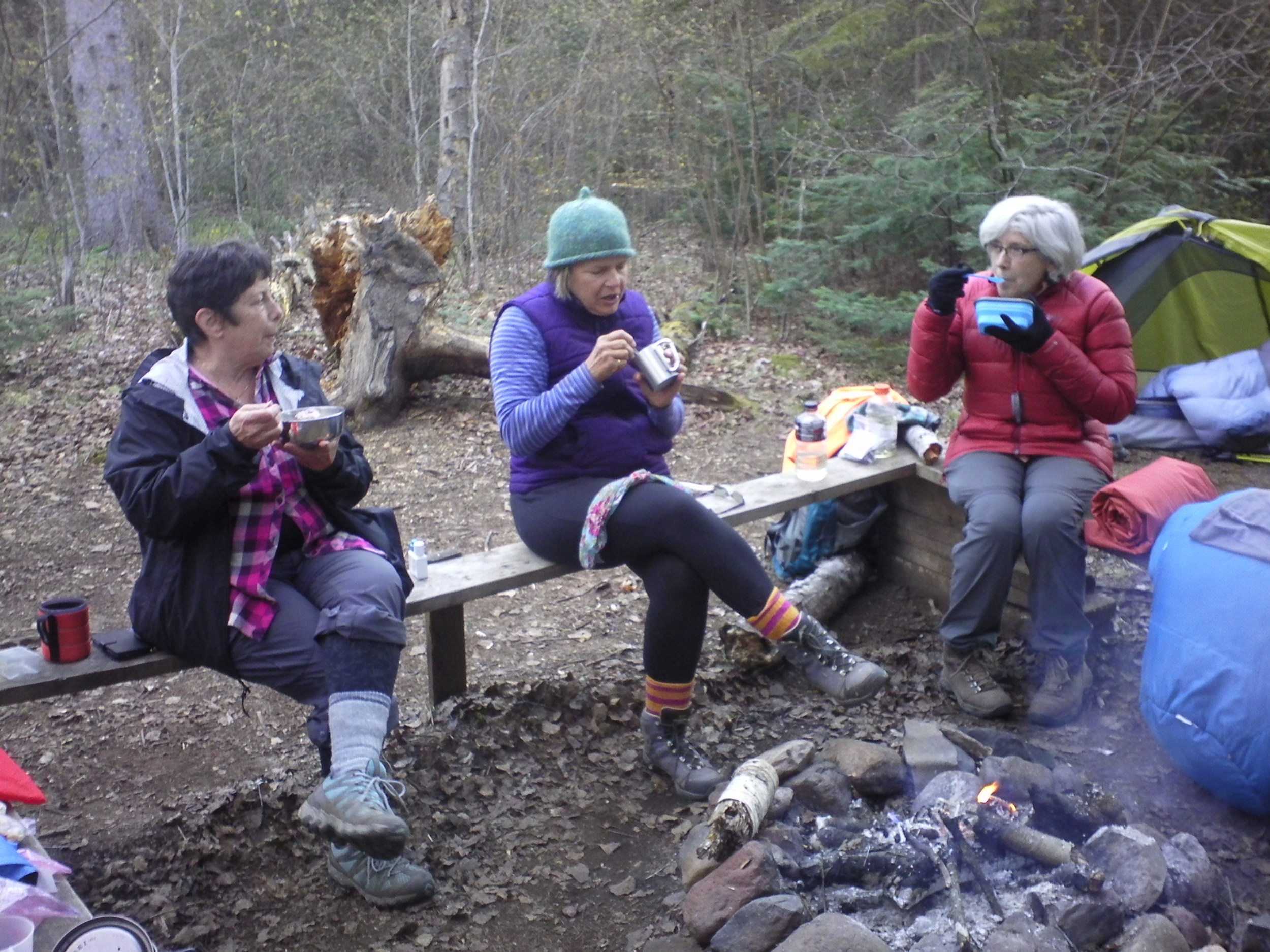 """"""" I had the pleasure of joining Jane and some like-minded women for my very first ever backpacking adventure. This was a decision that was not easy for me to make. At 69 years of age I wasn't confident that I was capable of hiking and camping with everything I need on my back. But . . . this was something I have always wanted to try. My experience exceeded my expectations and gave me confidence that you can do anything you put your mind to. But the really great gift I got from the experience is the knowledge of how to plan and execute an amazing adventure like that. That is knowledge that is mine to keep. I will use that to go on adventures with friends. Amazing time, good food, and bonding with some awesome women. Thanks Jane, you are the best.""""       Beth Unger"""