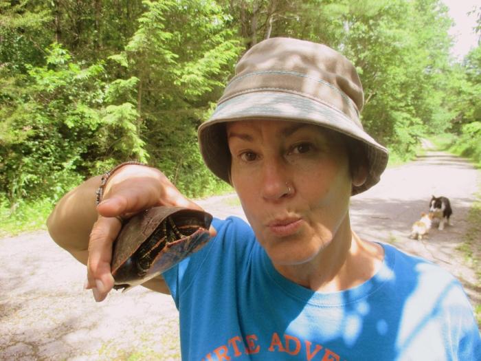 Jane and her favorite turtle From paper blah blah 3/9/17