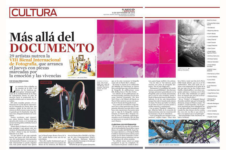 VIII International Photography Biennial of Puerto Rico, 2012