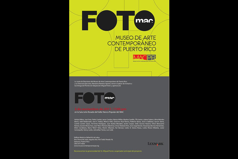 FOTOMac. Museum of Contemporary Art of Puerto Rico, 2011