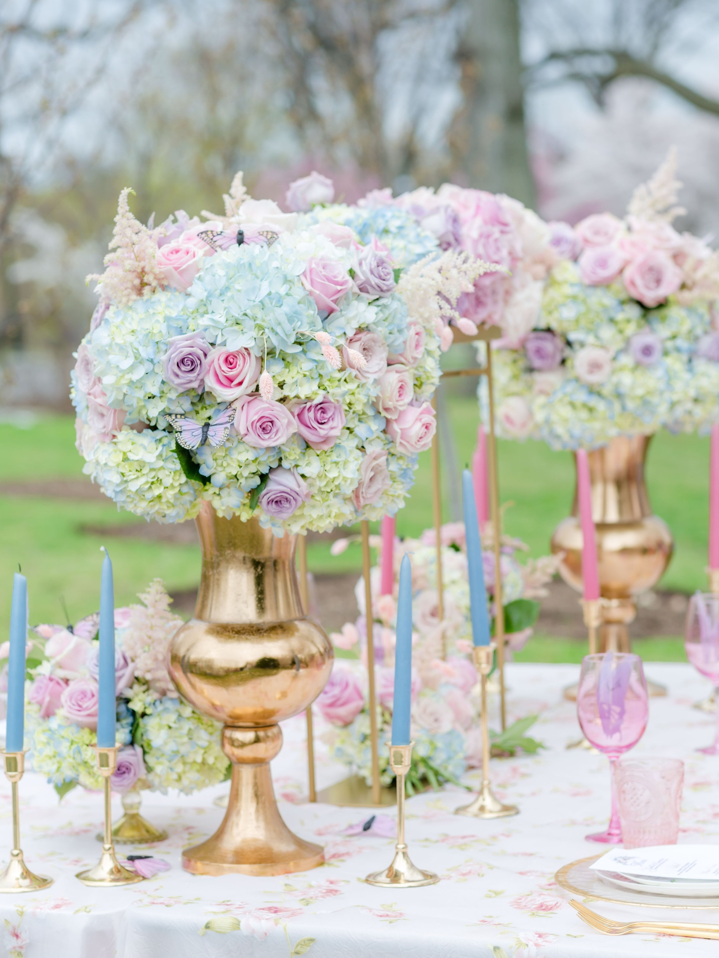 Floral Design - We specialize in creating lush floral arrangements in many different sizes. Request more info on we can use these beauties to enhance the decor of your next occassion!
