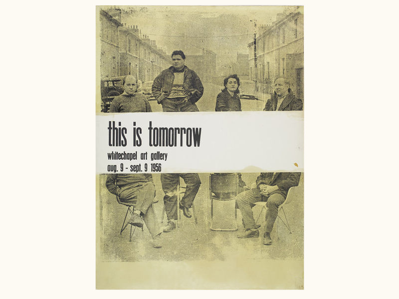 Poster by Nigel Henderson, advertising the exhibition 'This Is Tomorrow' held at the Whitechapel Art Gallery, Great Britain, 1956.