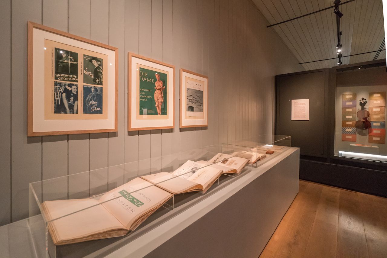 Elizabeth Friedlander Exhibition Main Gallery featuring Die Dame Covers and 1703 Klotz Violin (Ditchling Museum of Art + Craft, photo Sam Moore).jpg