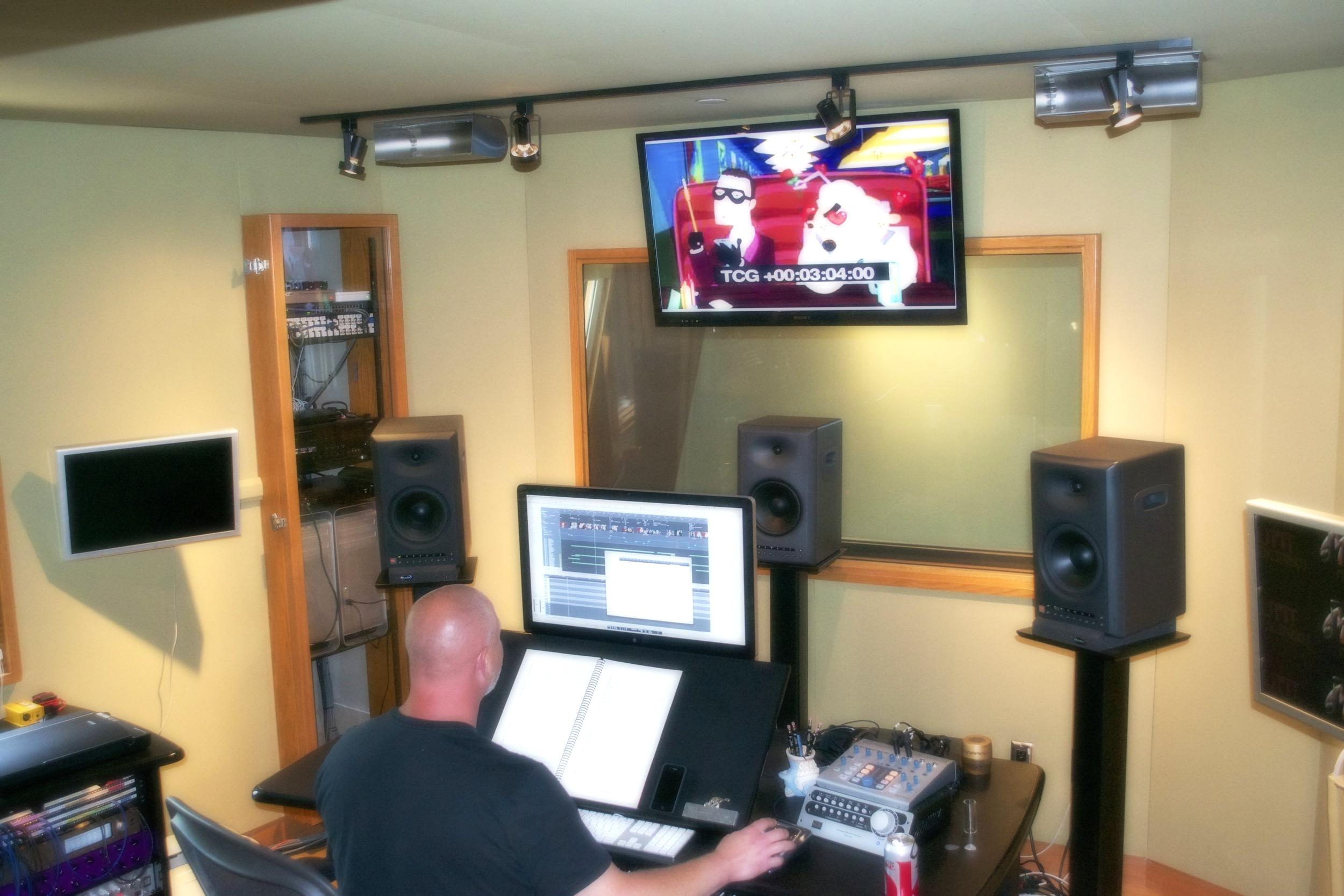 Scoring an animated pilot in my studio