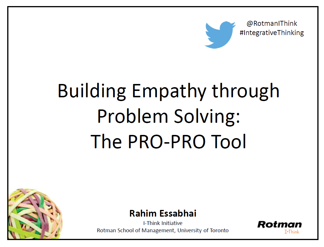 Download slides from  Building Empathy through Problem Solving .