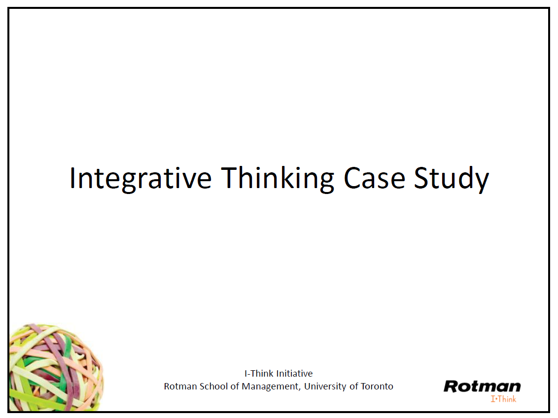 Download the slides to our  morning case study .