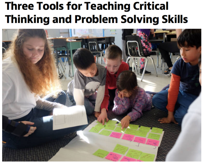 Three Tools for Teaching Critical Thinking and Problem Solving  Skills  by Katarina Schwartz