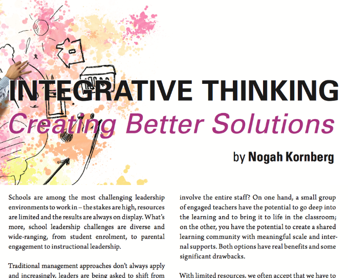 Integrative Thinkers: Creating Better Solutions  by Nogah Kornberg