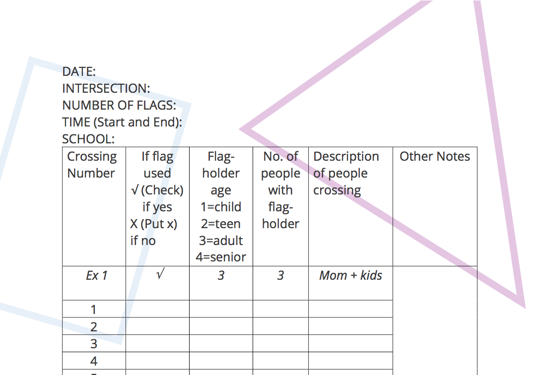 Data Collection Sheet -