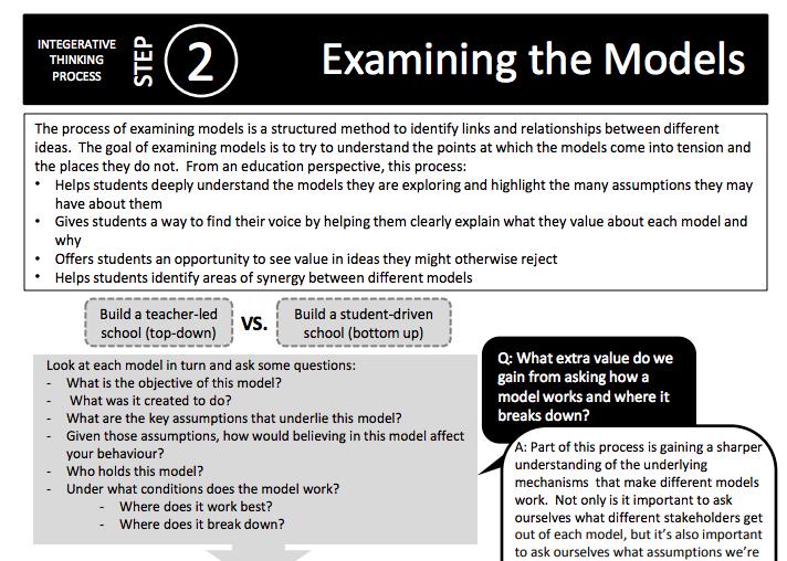 Examining the Models -