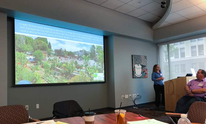 Sharon Danks (Green Schoolyards America) talks about our collaborative work in Oakland.