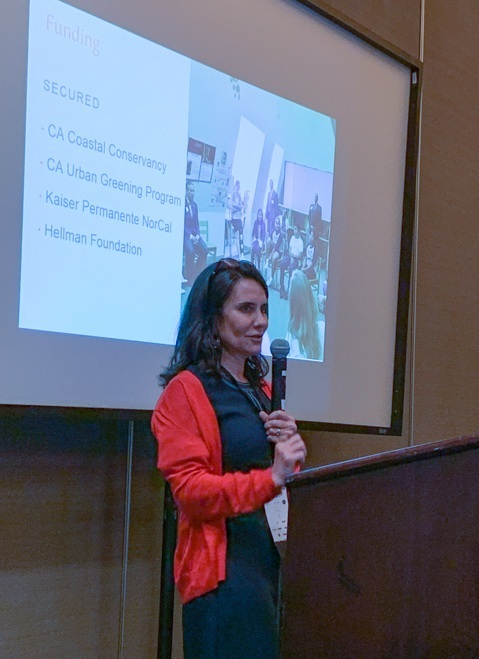 The Trust for Public Land's Alejandra Chiesa speaks to conference attendees.