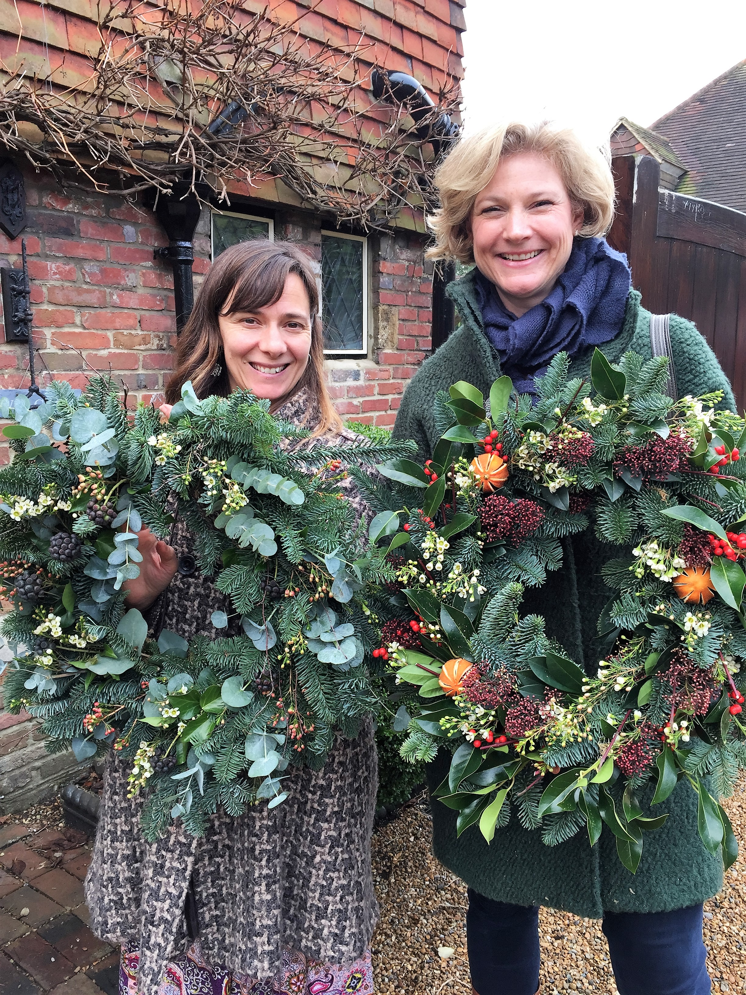 Beautiful abundant Christmas wreaths