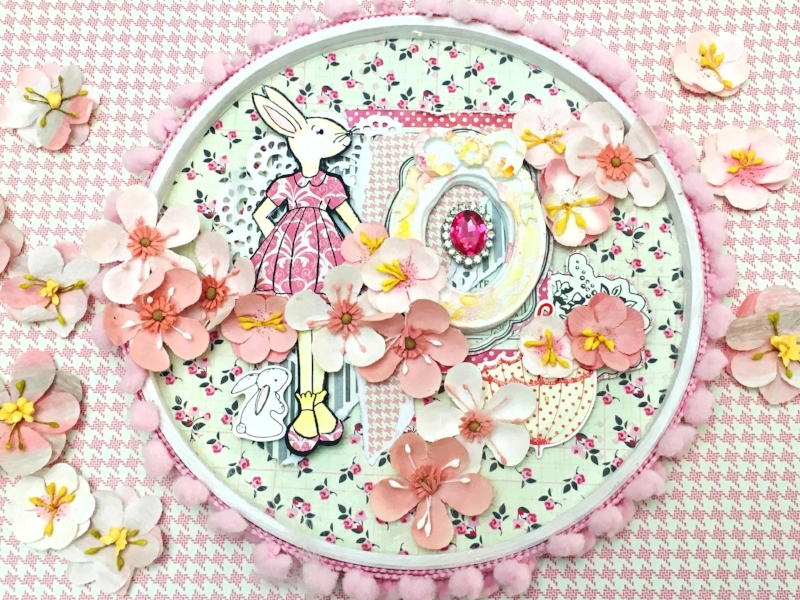 """""""The new Julie Nutting collection is beautiful and delicate. You will love it!I made this project with her adorable bunny stamp. Now I have a special frame to decorate a child's room or baby's nursery!"""" ~ Ro"""