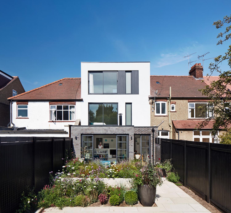 House C South View, Architecture, London, Extension, Black Bricks, Modern, Elegant, Bonds Green