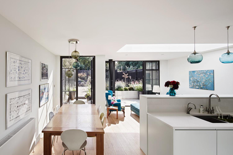 House C Kitchen, Architecture, Interiordesign, London, Extension, Black Bricks, Modern, Elegant, Bonds Green