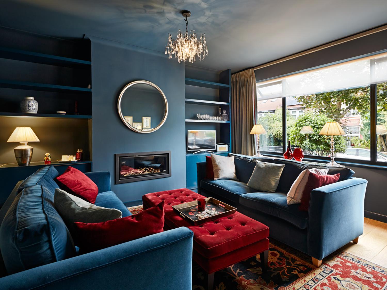 House C Living Garden, Architecture, Interiordesign, London, Extension, Deep Blue, Modern, Elegant, Bonds Green