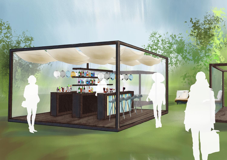 Cubes De Jardin, Restaurant, Bar Design, Temporary Architecture, Interior Design, Brand Design, Commercial Branding, City Parks, Frame Construction