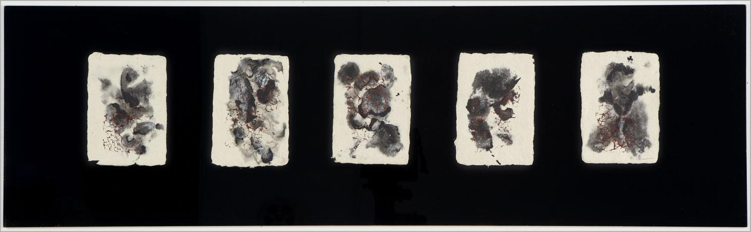 "Reconfiguration.   24"" x 7"", 2013."