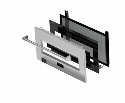 glass oven range hood