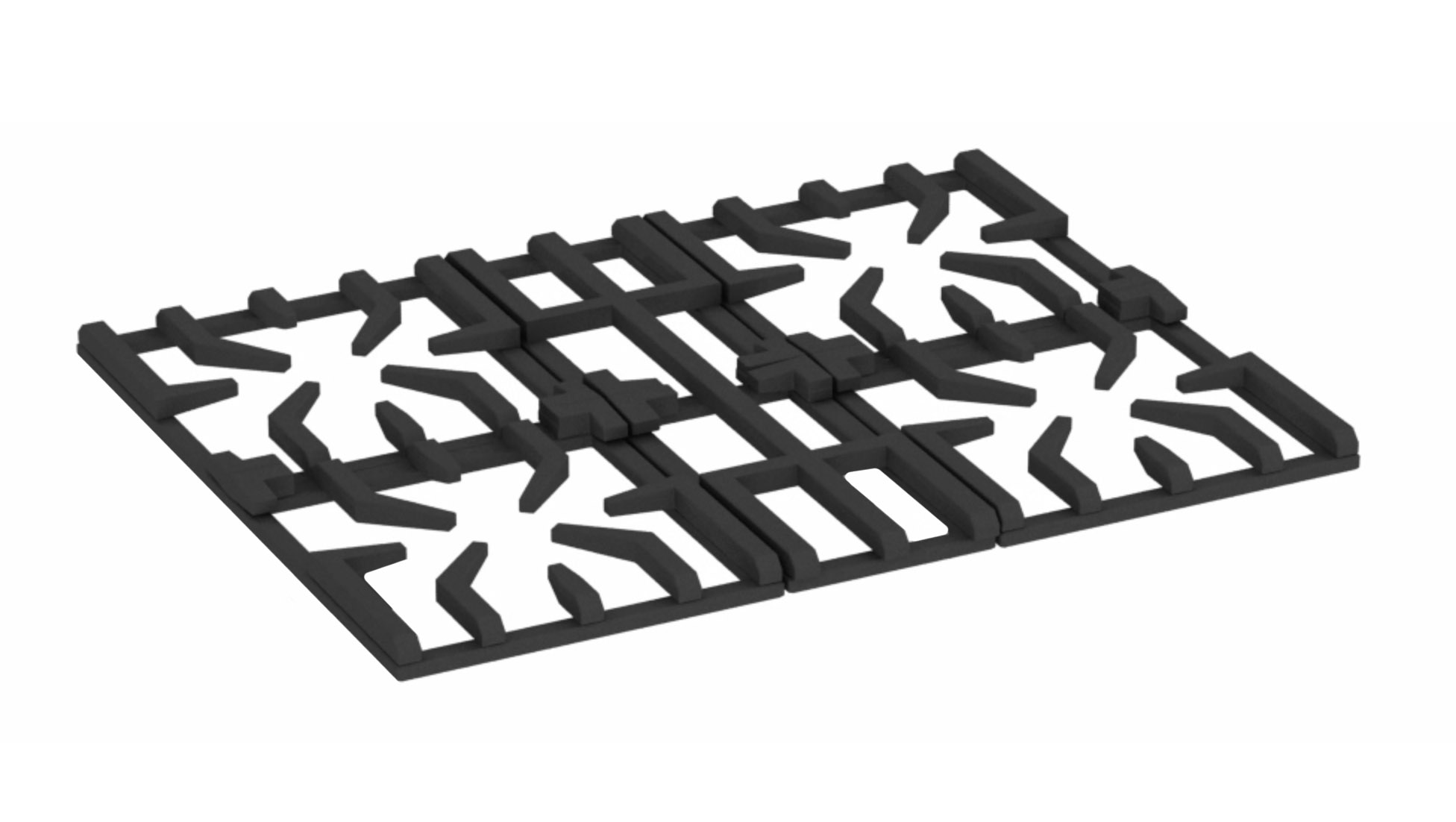 cast iron grill for range and cooktop