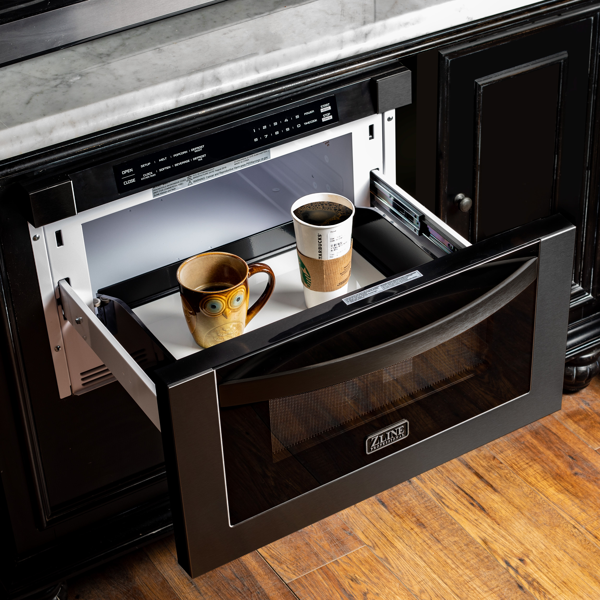 Black Stainless Microwave Drawer Zline Kitchen