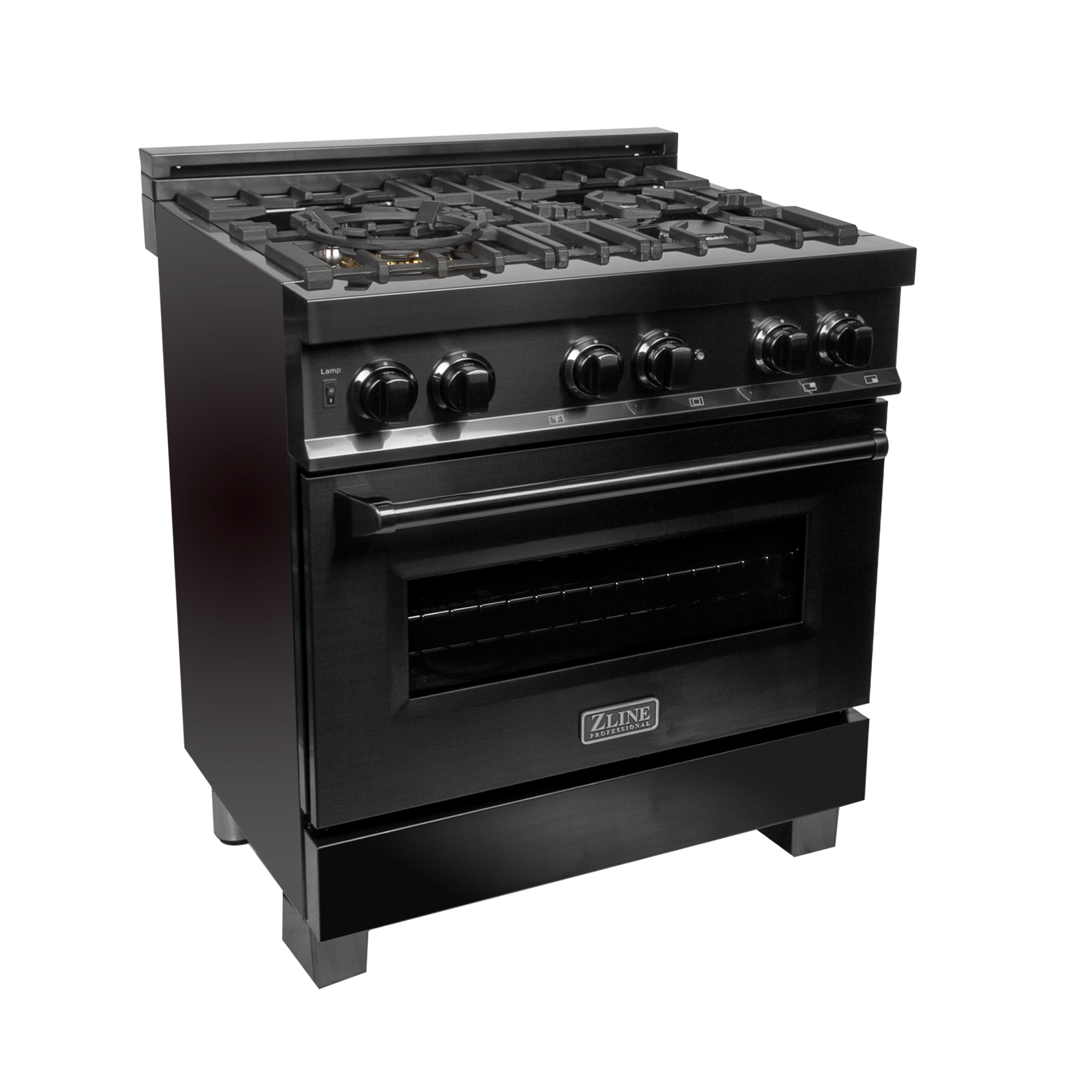 "30"" Black Stainless Steel Dual Fuel- Gas Range/Electric Oven"