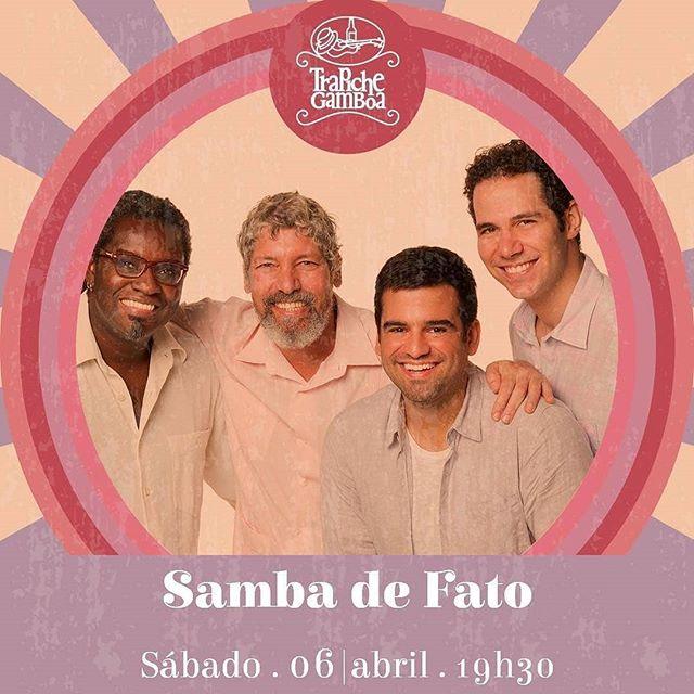 """Porque hoje tem mais no @trapichegamboarj... E, como disse meu querido @alfredodelpenho: """"Esse sábado tem de novo a roda com meus irmãozinhos do Samba de Fato seguindo no axé da semana passada que foi lindo demais!! Casa cheia, o povo todo cantando, canjas especialíssimas!!! 15 anos de grupo, de amizade, de compartilhar esse amor ao samba! Vamos? Eu não perco por nada!! Salve o samba!!"""""""