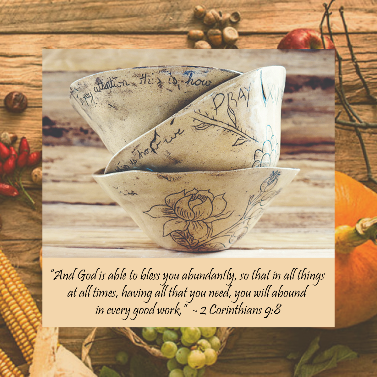 Harvest Blessing Bowls - A Pottery Craft - Bring a bowl to use as your model - no larger than 10 inches acrossDessert and coffee will be providedWhen: Friday October 26th from 7-9 pmANDFriday Nov. 2nd from 7-9 pmWhere: Knowlton Presbyterian Church (3 Knowlton Rd)Cost:$15