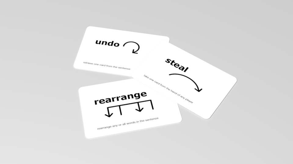 Amp up the tension by stealing cards, rearranging words, and generally messing up other players' strategies.