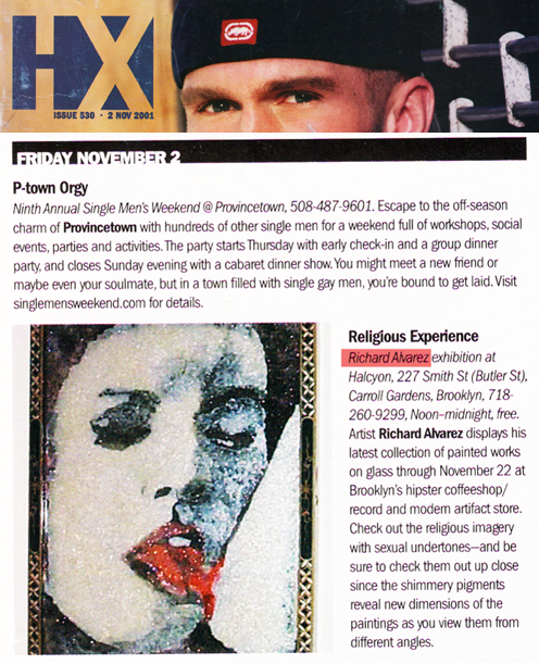 Richard Alvarez featured in HX Magazine