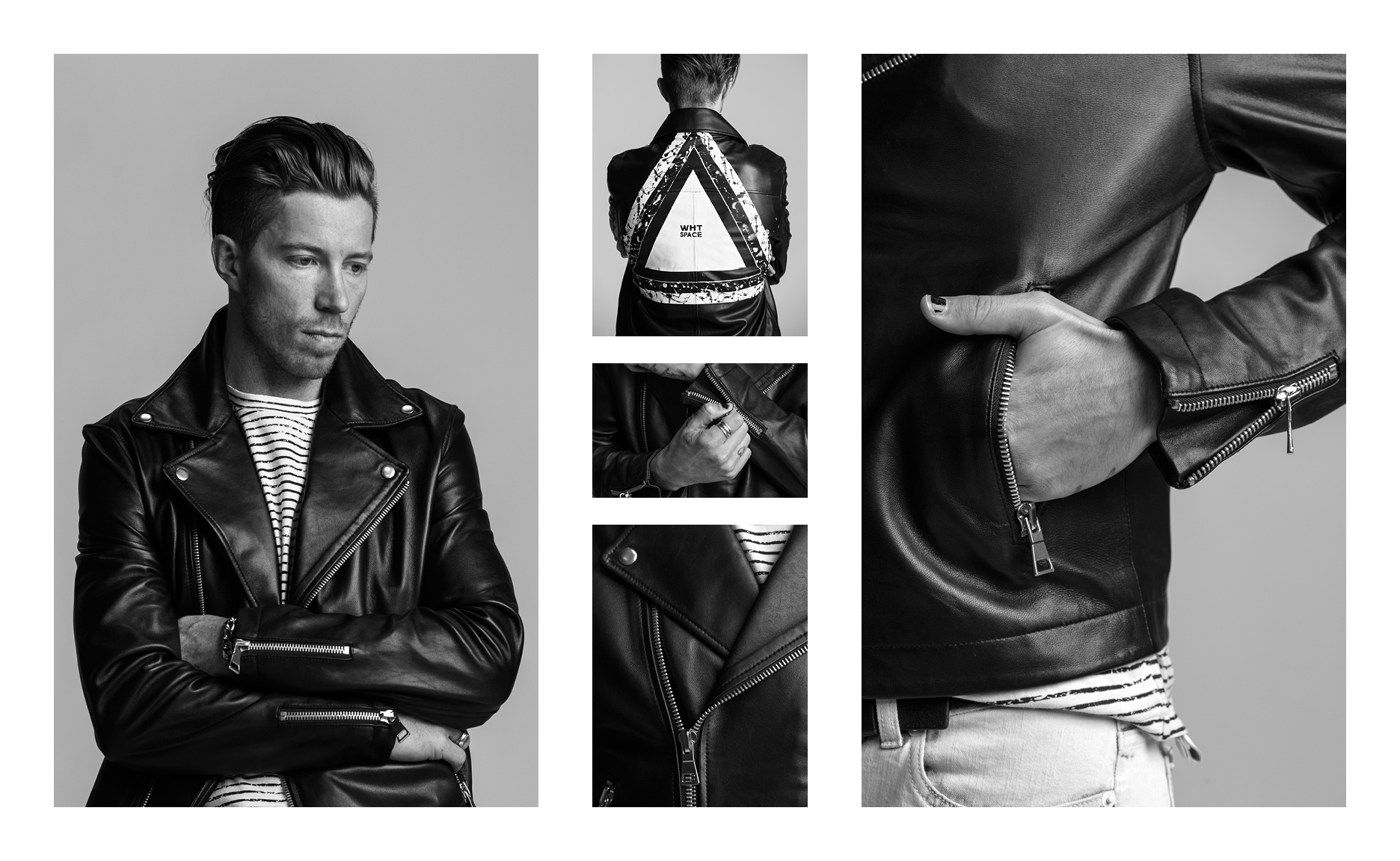 WHT SPACE LEATHER JACKET