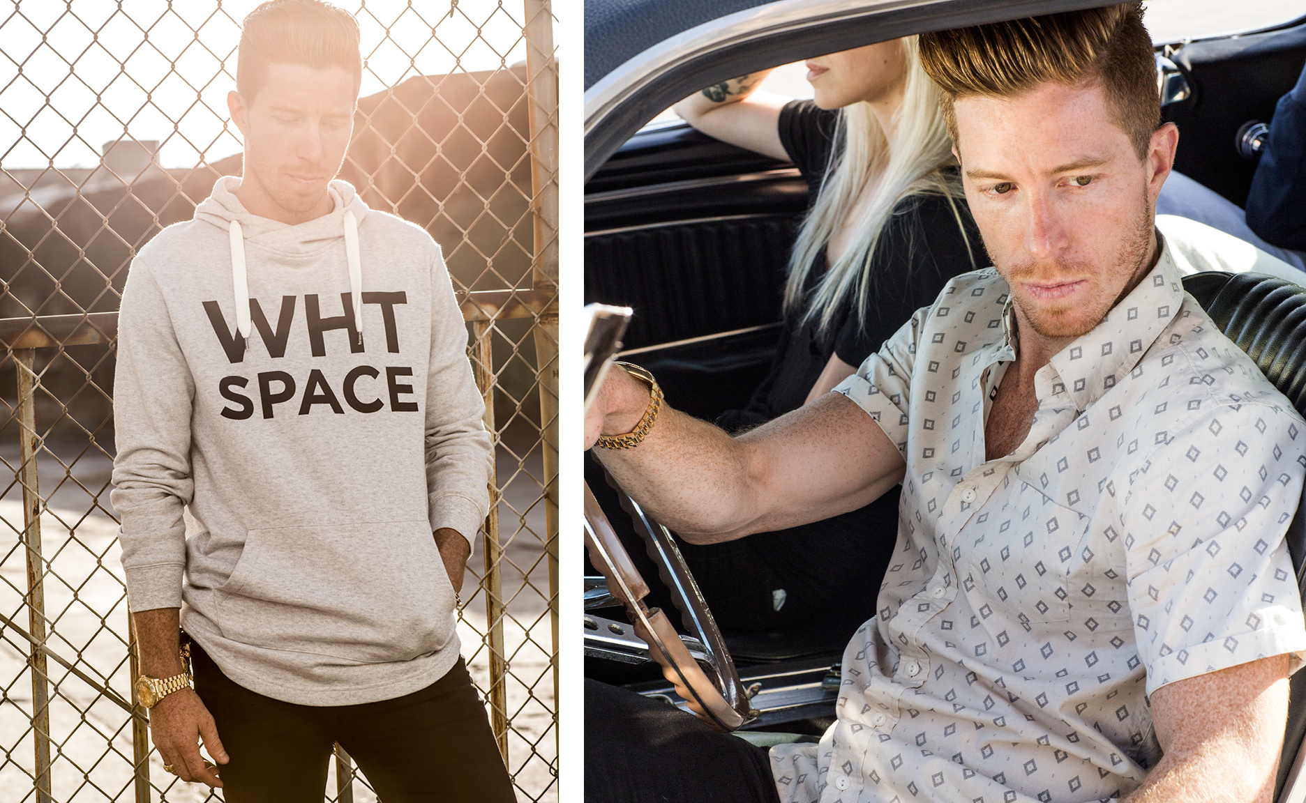 The WHT SPACE hoodie is the best summer and fall sweater and was designed by Shaun White