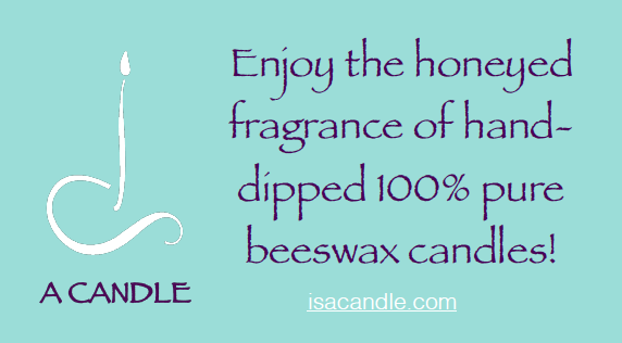 IS A Candle - Artisanal Beeswax CandlesEnjoy the honeyed fragrance of hand-dipped 100% pure beeswax candles!Website: isacandle.com