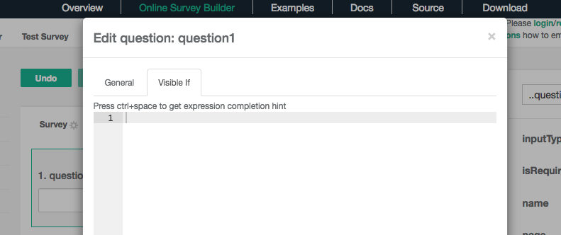 Custom code can trigger other questions in SurveyJS