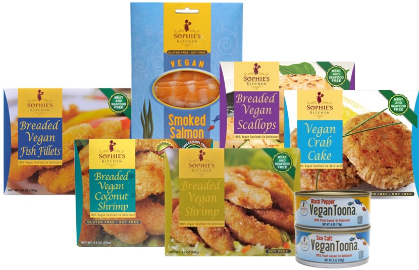 """Sophie's Kitchen vegan seafood alternatives have built up a cult following among both vegans and omnivores, or as Eugene Wang likes to call them, """"flexitarians.""""  Image source: Sophie's Kitchen"""