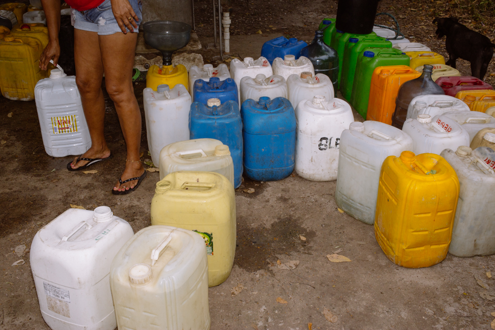 Freshwater delivered to a community in Isla Grande, Colombia.  Allie Wist