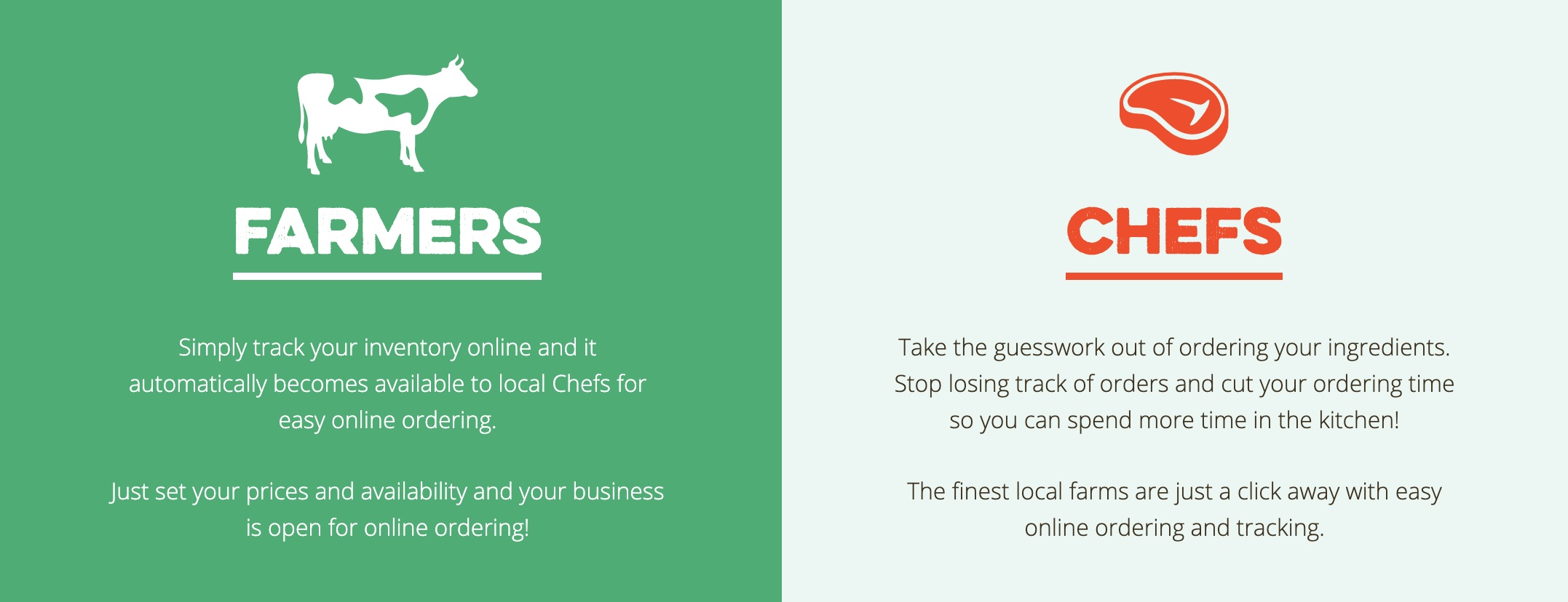 ToMarket's platform speaks to the needs of both chefs and farmers.