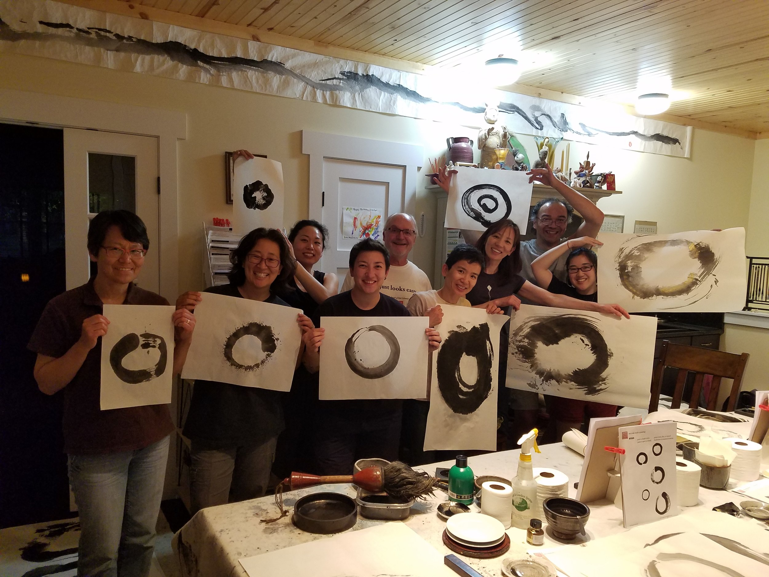 Enso workshop with Bob Schmitt, Laughing Waters Studio