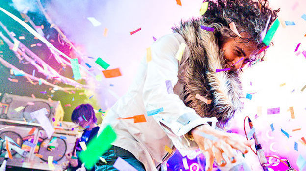Wayne Coyne of The Flaming Lips performs at the 2012 Noise Pop Festival in San Francisco.   Charlie Homo/Noise Pop