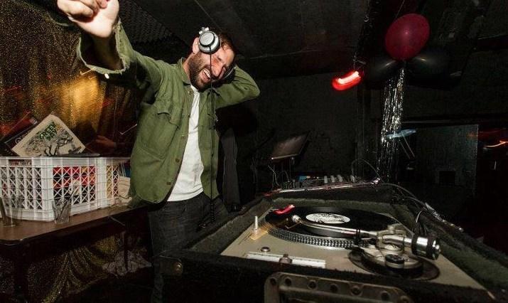 DJ Jamie Jams plays the classics. Photo by Chris Brennan
