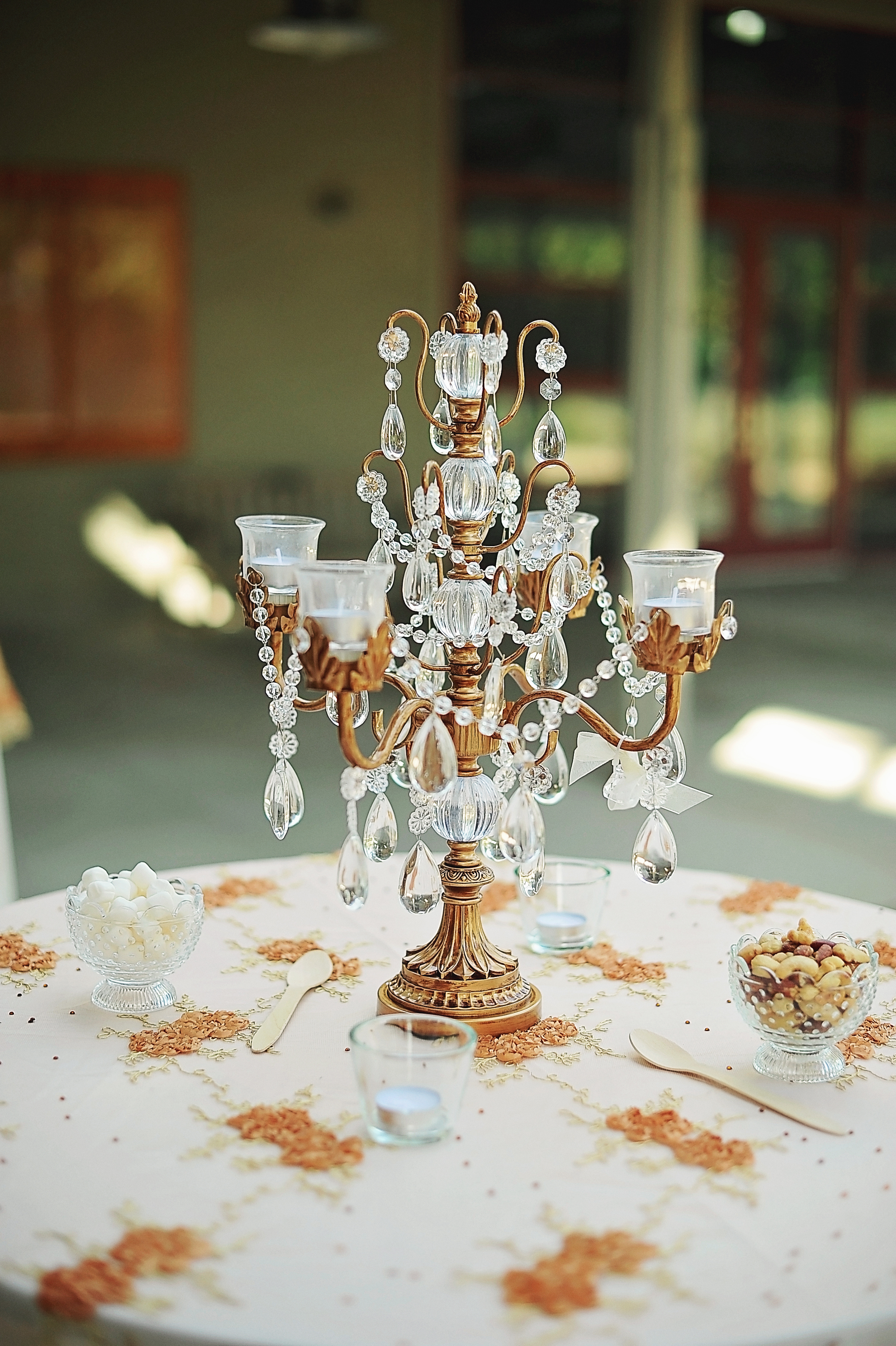 Iris Taper Candelabra   Wedding Tablescape   Opulent Treasures