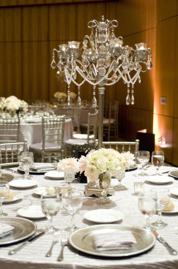 Wedding Table Decor   Casablanca Candelabra with Tealights