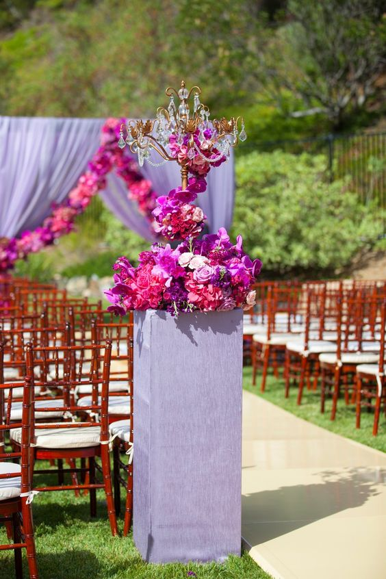 Outdoor wedding seating   Candelabra   Opulent Treasures