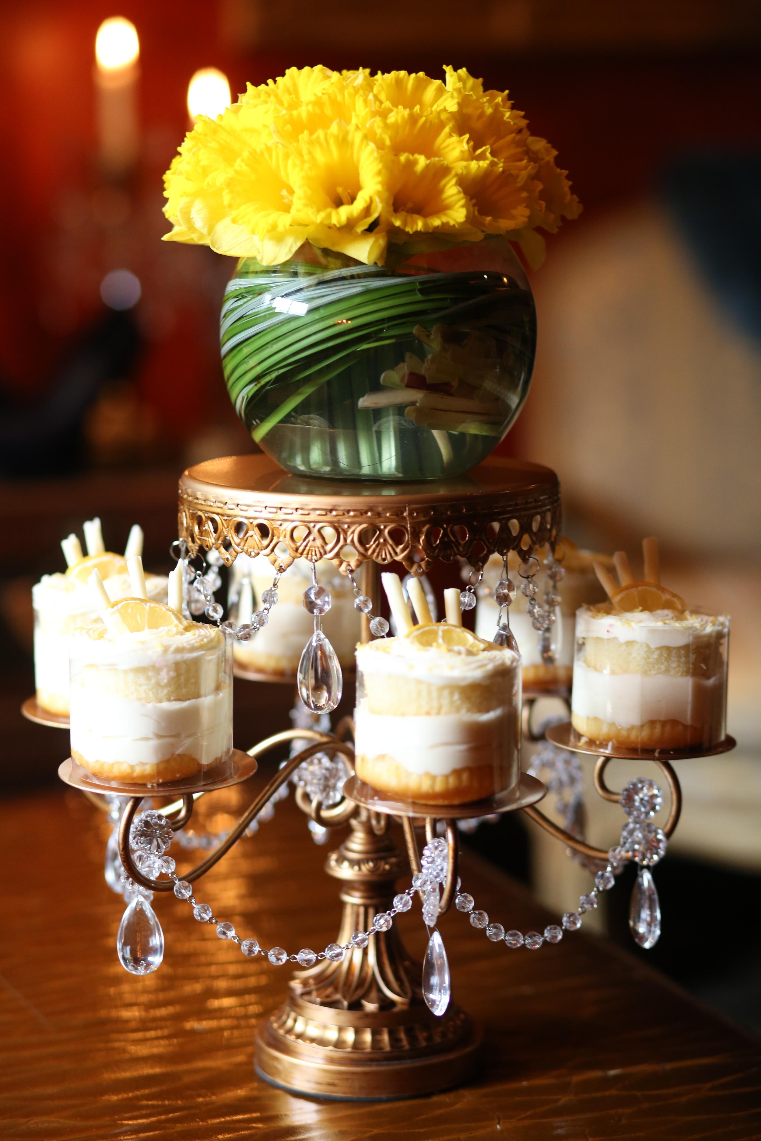 Rosebud Dessert Stand   Fresh Flowers   Opulent Treasures