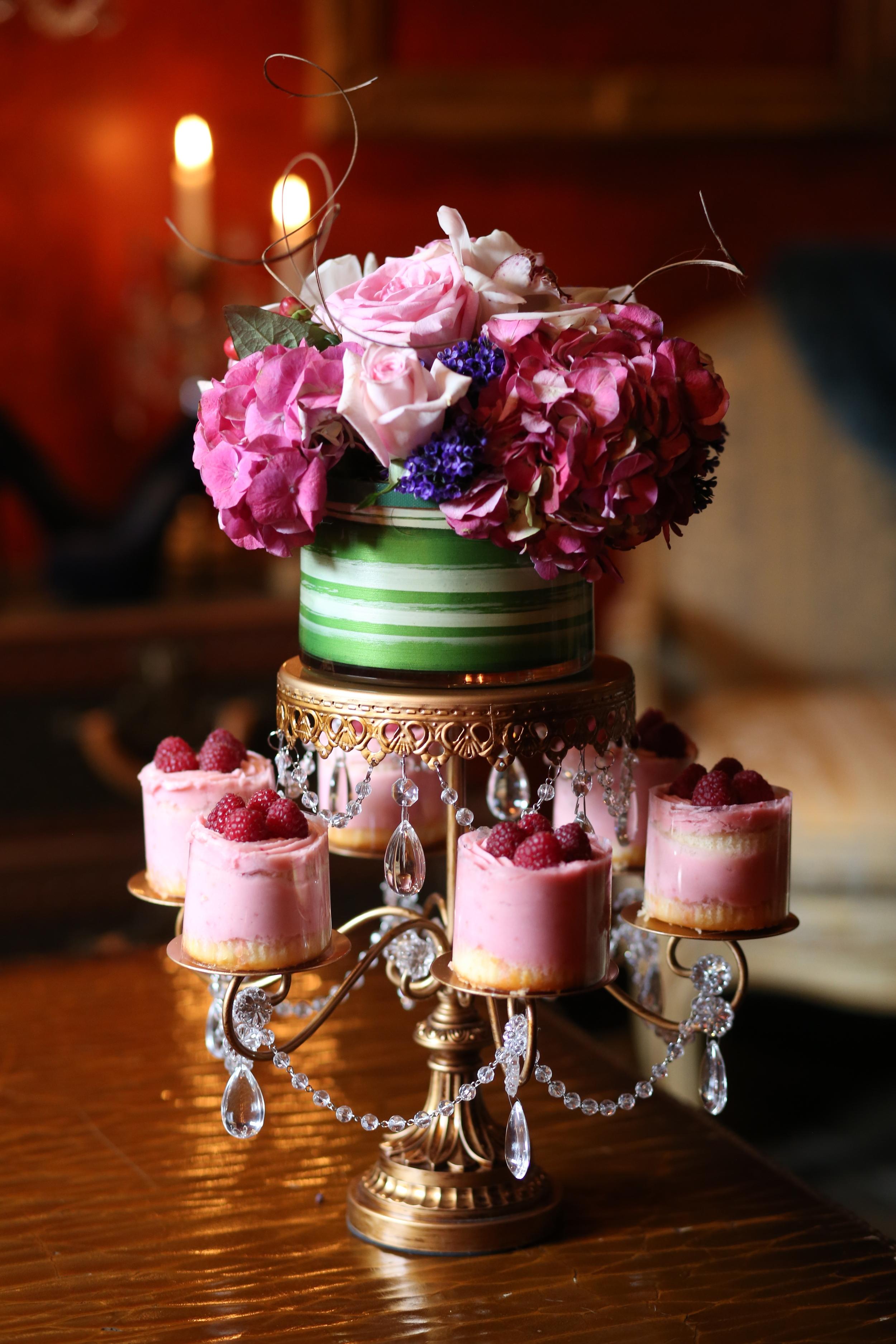 Rosebud Chandelier Dessert Stand   Opulent Treasures