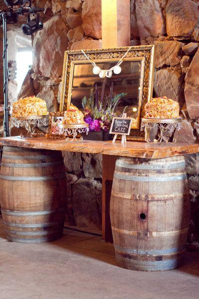 Rustic Dessert Bar   Opulent Treasures Chandelier Cake Stands